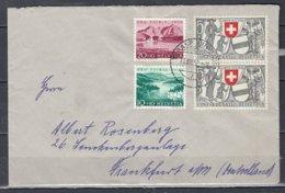 Brief Van Tarasp Kurhaus Naar Frankfurt - Suisse