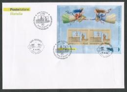 FDC ITALIA 2006 - BUSTONE CON FOGLIETTO - MOSTRA FILATELICA LE DUE REPUBBLICHE - ITALIA SAN MARINO  - 413 - 6. 1946-.. Republik