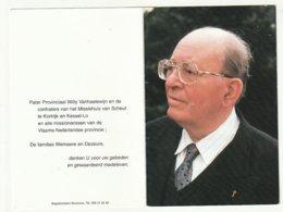Doodsprentje Pater Jozef WEMAERE Poperinge 1932 Missionaris Nederland Congo Rome Scheut Kessel-Lo 2004 - Images Religieuses
