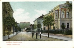 Slovenia, LJUBLJANA LAIBACH, Reseljeve Ulice, Ressel Street (1907) Postcard - Slovenia
