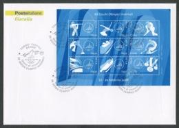 FDC ITALIA 2006 - BUSTONE CON FOGLIETTO - XX GIOCHI OLIMPICI INVERNALI - TORINO 2006 - 414 - 6. 1946-.. Republik