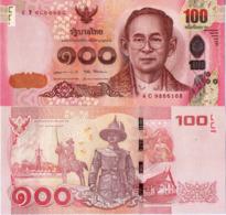 THAILAND 100 Baht 2015 P120 UNC, KING TAKSIN EQUESTRIAN STATUE - Tailandia