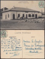 Maroc 1916 - Carte Postale Vers Marseille Avec Illustration: KÉNITRA-Bureau De Poste................(VG) DC-4354 - Marocco