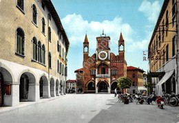 Cartolina Pordenone Piazza Del Municipio 1961 Bar Insegna Lanerossi - Pordenone