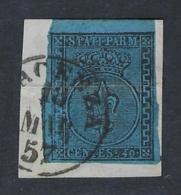 PARMA 1852 40c AZZURRO Nº 5 - Parme