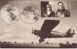 AVIATION Aviateurs - COSTES Et LE BRIX - CPSM Sépia Vernie Format CPA - - Flieger