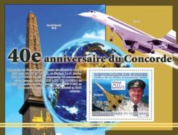 Guinea 2009 MNH - Pillot Mike Bannister, Concorde, Rio De Janeiro (Place De La Concorde). YT 985, Mi 6614/BL1691 - Guinea (1958-...)