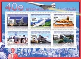 Guinea 2009 MNH - 40th Anniversary Of Concorde II. YT 4107-4112, Mi 6602-6607 - Guinea (1958-...)