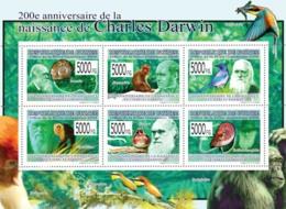 Guinea 2009 MNH - 200th Anniversary Of Charles Darwin I. YT 4161-4166, Mi 6575-6580 - Guinée (1958-...)