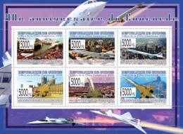 Guinea 2009 MNH - 40th Anniversary Of Concorde III. YT 4101-4106, Mi 6608-6613 - Guinea (1958-...)