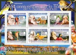 Guinea 2009 MNH - 200th Anniversary Of Charles Darwin (Birds & Animals) II. YT 4167-4172, Mi 6587-6592 - Guinée (1958-...)