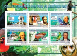 Guinea 2009 MNH - The Origin Of Species Trough Natural Selection, Aristotle, C.Darwin. YT 4173-4178, Mi 6568-6573 - Guinée (1958-...)