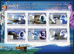 Guinea 2009 MNH - Centenary Of The Crossing Of The Handle By Luis Bleriot, Planes. YT 4191-4196, Mi 6498-6503 - Guinea (1958-...)