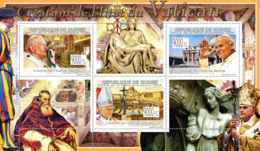Guinea 2009 MNH - Creation Of The Vatican State Pope J.Paul II (Paul III, Benedict XVI). YT 4226-4228, Mi 6678-6680 - Guinea (1958-...)