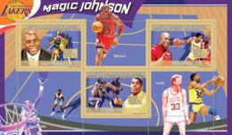 Guinea 2009 MNH - Magic Johnson, Basketball (M.Jordan, L.Bird). YT 4235-4237, Mi 6710-6712 - Guinea (1958-...)