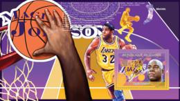 Guinea 2009 MNH - Magic Johnson, Basketball (M.Jordan, L.Bird). YT 1010, Mi 6713/BL1714 - Guinea (1958-...)