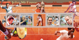Guinea 2009 MNH - John McEnroe, Lawn Tennis (Jimmi Connors, B.Borg, I.Lendl). YT 4252-4255, Mi 6669-6672 - Guinea (1958-...)