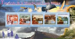 Guinea 2009 MNH - Channel Crossing By Louis Bleriot, Ancients Aircrafts. YT 4270-4274, Mi 6642-6646 - República De Guinea (1958-...)