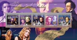 Guinea 2009 MNH - Felix Mendelssohn Bartholdy (1809-1847) The Dream Of A Summer Night. YT 4275-4279, Mi 6630-6634 - Guinea (1958-...)