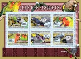 Guinea 2009 MNH - Parrots. YT 4026-4031, Mi 6430-6435 - Guinea (1958-...)
