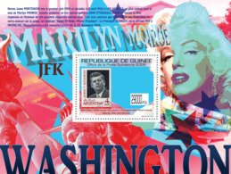 Guinea 2009 MNH - J.F.Kennedy & M.Monroe On Stamps, Stamp Of Argentina. YT 1059, Mi 7127/BL1779 - Guinea (1958-...)