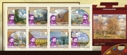 Guinea 2009 MNH - Paintings Of Alfred Sisley (1839-1899). YT 4362-4369, Mi 6815-6822 - Guinea (1958-...)