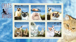 Guinea 2009 MNH - Cats Of The World, I. YT 4630-4635, Mi 7177-7182 - Guinee (1958-...)