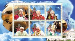Guinea 2009 MNH - Meeting Between Benedict XVI And John Paul II. YT 4588-4593, Mi 7169-7174 - Guinea (1958-...)
