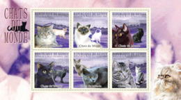 Guinea 2009 MNH - Cats Of The World II. YT 4636-4641, Mi 7183-7188 - Guinee (1958-...)