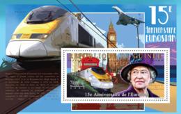 Guinea 2009 MNH - 15th Anniversary Of Eurostar (Speed Trains). YT 1070, Mi 7162/BL1784 - Guinea (1958-...)