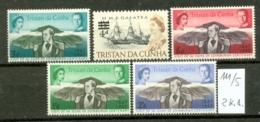 TRISTAN DA CUNHA - 111 + 112/5   Aufdr. + Prinz Philip  Kompl.postfr. - Tristan Da Cunha