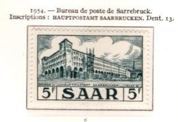Ex Colonie Française  * Sarre *   Poste : 328  N* - 1947-56 Occupation Alliée