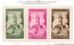 Ex Colonie Française  * Sarre *   Poste : 355/357  N** - 1947-56 Occupation Alliée