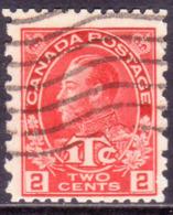 1916 CANADA SG #236 2c+1c Perf. 12x8 Used CV £60 WAR TAX Bright Rose-red - War Tax
