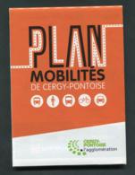 """Plan De Réseau Bus Et Train SNCF/RATP """"Plan Mobilités De Cergy-Pontoise"""" Ile-de-France - Europe"""