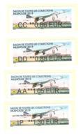 4 Vignette Lisa Concorde Aéroport Bale Mulhouse Atm Frama Cinderella Label CC DD AA IP 2019 Salon Toutes Collections - Concorde