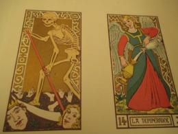 VOYANCE-CARTOMANCIE - LE TAROT DES IMAGIERS DU MOYEN AGE -1926 - PLAQUETTE DE 11 PLANCHES - Livres, BD, Revues