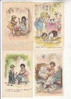 CPA Illustrateurs Germaine Bouret - 5 Cartes - Achat Immédiat - (cd007) - Bouret, Germaine