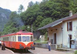 LAMATIVIE - Ligne D'Aurillac à St Denis Près Martel Train Autorail X 2448 En Gare En 1977 Tirage 250 Ex - France