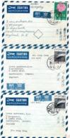 3 Aérogrammes Dont Chysanthème-Tb - Poste Aérienne