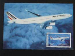 Carte Maximum Card Airbus A340 Poste Aérienne 1994 Nouvelle Calédonie (ref 94603) - Avions