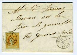 ESPAÑA 1861 CARTA  VALLS  ENE 61 Hasta PUIGCERDA    LC 11 - 1850-68 Reino: Isabel II