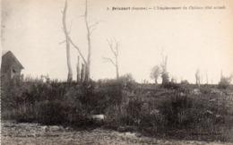 CP 80 Somme Fricourt Guerre 14 Château Emplacement état Actuel Après La 1 Lelong Belle Emilia - Other Municipalities
