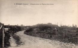 CP 80 Somme Fricourt Guerre 14 Eglise Emplacement état Actuel Après La 7 Lelong Belle Emilia - Other Municipalities