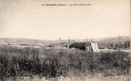 CP 80 Somme Fricourt Guerre 14 Gare état Actuel Après La 11 Lelong Belle Emilia - Other Municipalities
