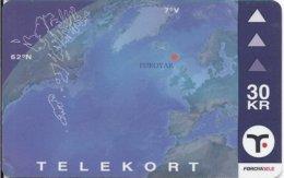 FAROE ISLAND - FAROESE MAP - 15.000EX - 033 - Isole Faroe