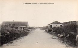 CP 80 Somme Fricourt Guerre 14 Rue D'Arras état Actuel Après La 4 Lelong Belle Emilia - Other Municipalities