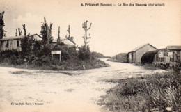 CP 80 Somme Fricourt Guerre 14 Rue Des Masures état Actuel Après La 9 Lelong Belle Emilia - Other Municipalities