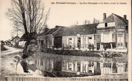 CP 80 Somme Fricourt Guerre 14 Rue Principale Et La Mare Avant La 191 Lelong Belle Emilia - Other Municipalities