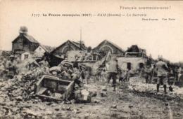 CP 80 Somme Ham France Reconquise 1917 La Sucrerie Français Souvenons-nous Dynamite Boches Destruction 1717 Baulinière - Ham